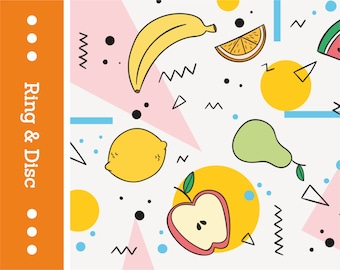 SU02-RD Summer Fruits Pattern
