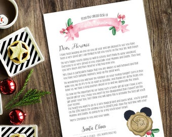 Gift from santa etsy gift letter from santa personalised and bespoke disney trip concert event digital spiritdancerdesigns Image collections