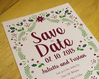 Printable Winter Wedding Save the Date