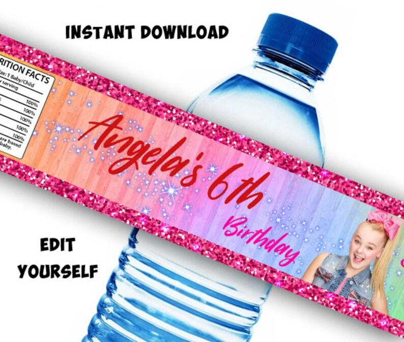 7d722fb42e INSTANT DOWNLOAD Jojo Siwa Water Bottle Labels Jojo Siwa   Etsy