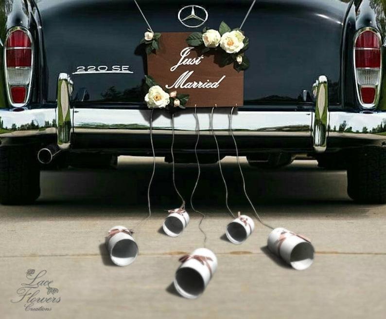 77ecd8c208b2 Cartello personalizzabile auto sposi Just married car sign