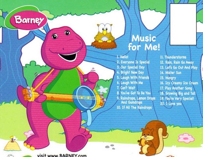 Children's Personalised Music CD    BARNEY    Music For Me
