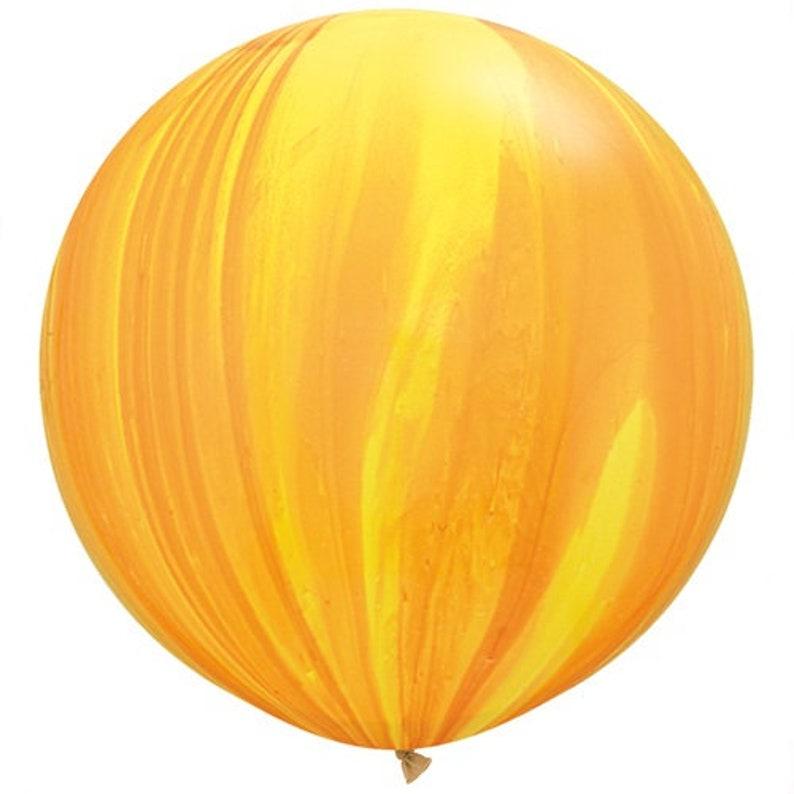 Giant Yellow Marble Balloon