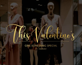 This Valentine's Give Something Special Window Decal - Removable Vinyl Sticker - Seasonal Shop Window Sticker - Valentine's Day Shop Decal