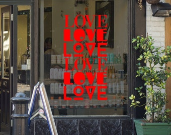 Valentine's Day Shop Window Decor - Removable Glass Decoration - Vinyl Sticker - Vinyl Decal - Love - Valentine - 14 February
