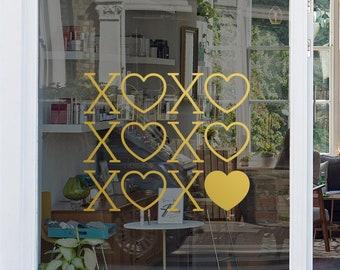 Decorative Window Sticker - Valentine's Day Decoration - Window Sign - Retail Window - Removable Vinyl Decal - Heart Decal