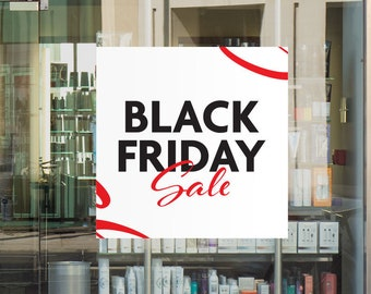 Black Friday Sale Window - Removable and Reusable Window Sticker - Promotional Window Sign for Black Friday - Black Friday Sign