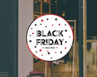 Black Friday Deals Window Sign - Removable and Reusable Window Sticker - Promotional Window Sign for Black Friday - Black Friday Deals Sale