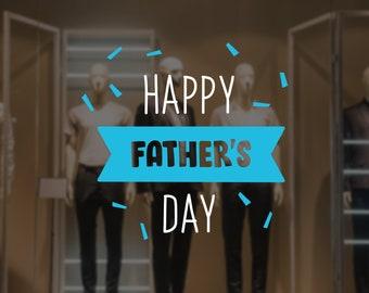 Happy Father's Day Confetti Sign - Father's Day Confetti Window Decal