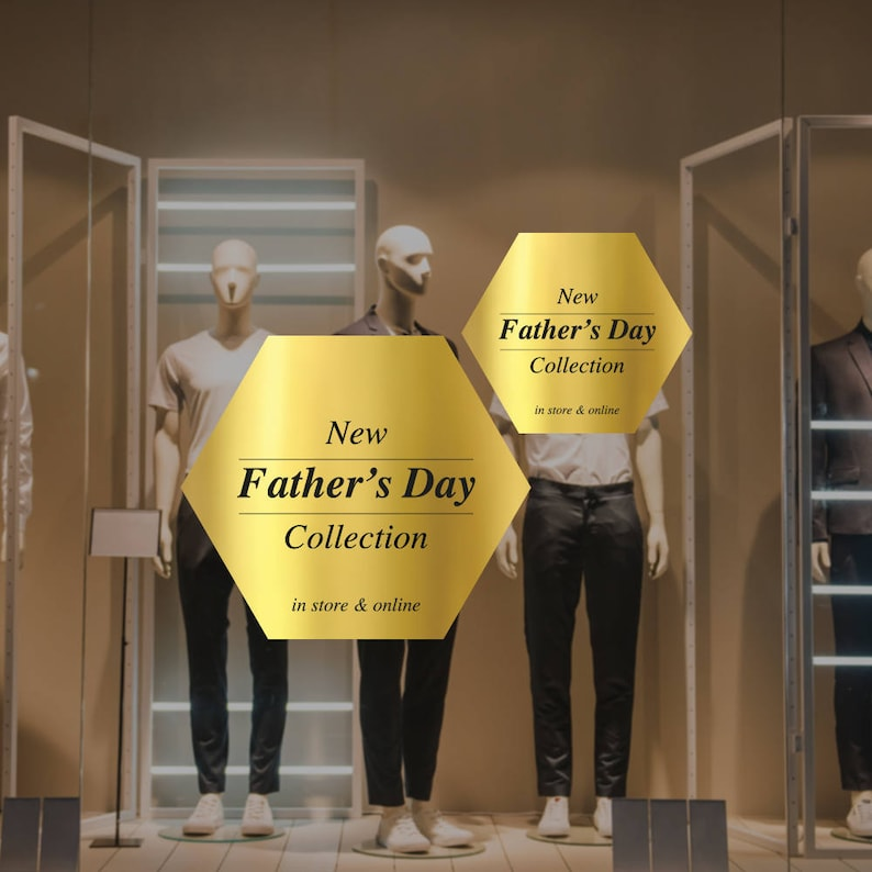 3c4dc4a22c5 Father s Day Collection Retail Display Cling Removable
