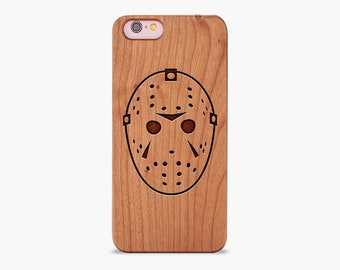 Jason Voorhees Wooden Engraved iPhone Case - XR XS Max X 5 5s SE 6 7 8 Plus  - Friday the 13th iPhone Case 6570c1524