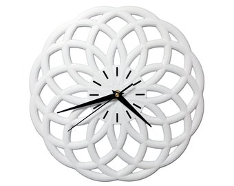 CYCLES 3D Printed Wall Clock - Modern Home Decor - Geometric Clock - Made to Order - Multiple Colors Available