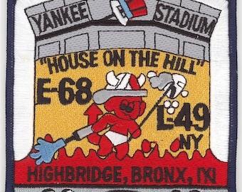 "New York Engine 68 Ladder 49 Yankee Stadium Bronx House on the Hill Patch (5"")"