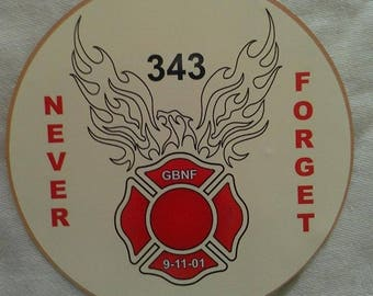 """91101 Never Forget 343 GBNF Patch Gone But Not Forgotten Decal (4"""")"""