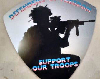 """Support Our Troops Defenders of Freedom Decal (4"""")"""