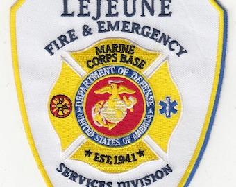 "North Carolina Camp Lejeune Marines Corps Base Fire Emergency Patch (5"")"