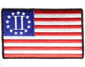 Second 2nd Amendment US Flag Patch (4x2.5)