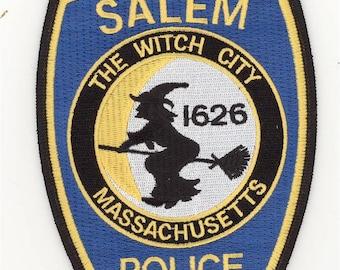 "Massachusetts Salem Police Department Patch Halloween Witch (5"")"