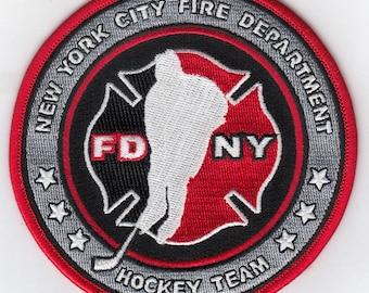 "New York City Fire Department Hockey Club Team (4"")"