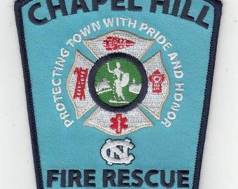 North Carolina University Chapel Hill Tar Heels Fire Dept Patch