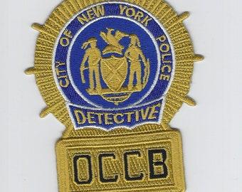 New York City Detective OCCB Organized Crime Control Bureau Patch