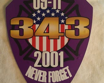 """91101 343 Never Forget Purple Decal (4"""")"""