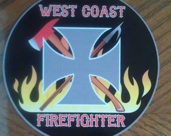 "West Coast Firefighter Decal (4"")"