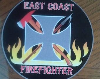 "East Coast Firefighter Decal (4"")"