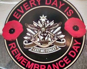 """Canada Remembrance Day Lest We Forget Decal (4"""")"""