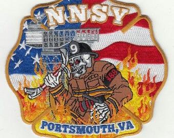 "Virginia Portsmouth Norfolk Naval Ship Yard NNSY Patch (5"")"