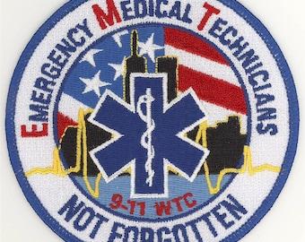 """91101 EMT EMS Emergency Medical Technician Not Forgotten Patch (4"""")"""
