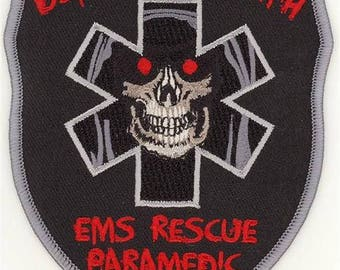 """EMS Rescue Paramedic Defeating Death Patch (4"""")"""