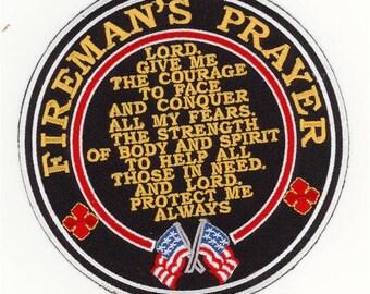 """Firemans Firefighter Prayer Patch (5"""")"""