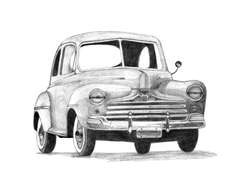 Ancienne voiture dessin t l chargement num rique art uvres etsy - Dessin vieille voiture ...