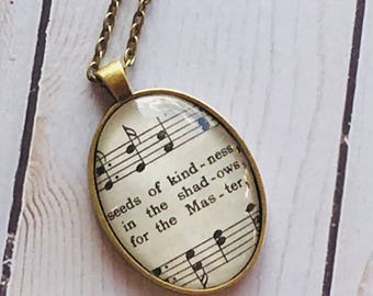 Vintage Hymn Necklace from Hymnbooks