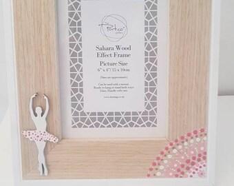 Girls ballerina photo frame