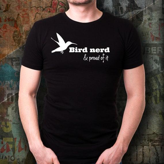 6e43b5c5439c34 Oiseaux Nerd et Si fier   Cadeau T-Shirt pour ornithologue   Si et il ...