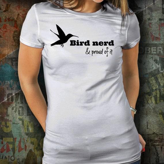9ad2d0f41b4b3d ... Oiseaux Nerd et Si fier   Cadeau T-Shirt pour ornithologue   Si et il  ...