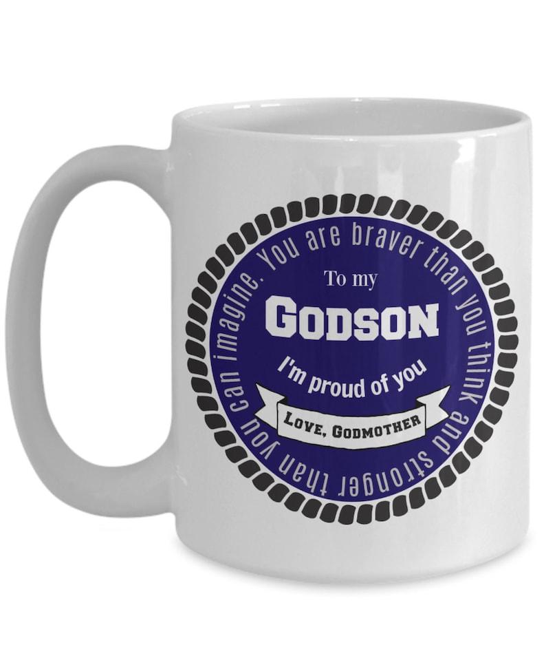 Gift Mug from Godmother to Godson | To My Godson | Godson Gifts | Godson  Mugs | Best Godson Ever | For Adult Godson |