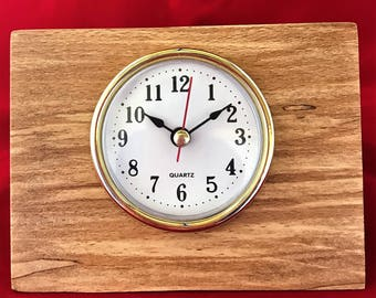 Desk clock made from Sycamore