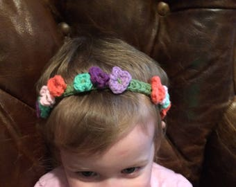 Adjustable Flower Crown Headband Easy Pattern Quick Project