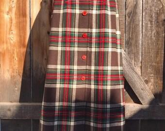dc94e9166 50s pendleton skirt   Etsy