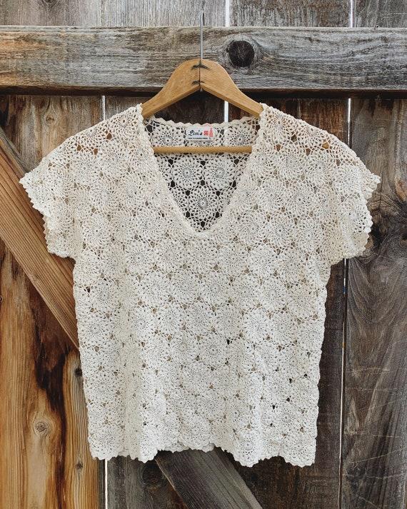 Knit Doily Top