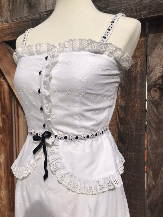 70s Eyelet Two Piece - image 3