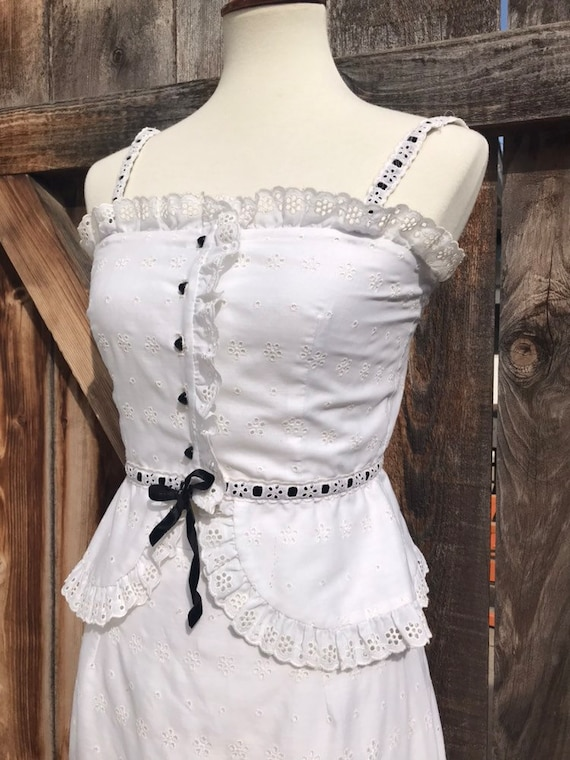 70s Eyelet Two Piece - image 2