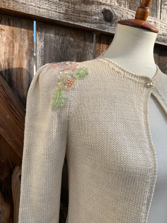 Beaded Shoulder Cardigan