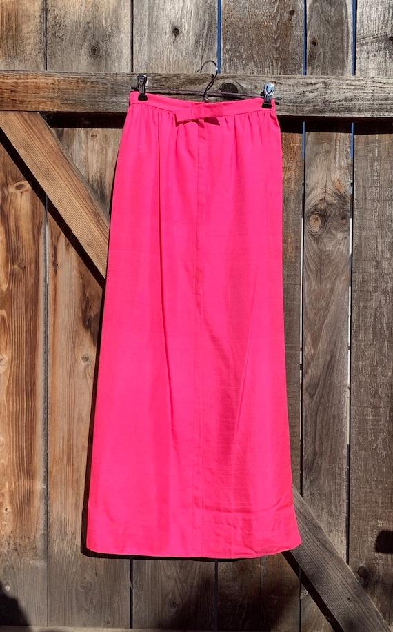 Hot Pink High Waisted Skirt