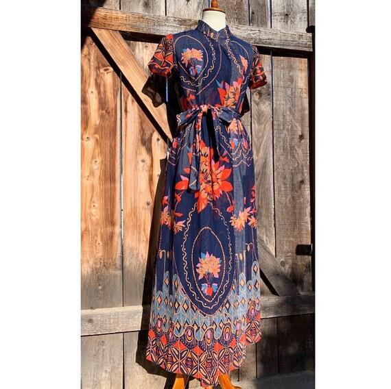 Vintage High Neck Dress