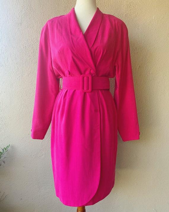 Fuschia Silk Blazer Dress