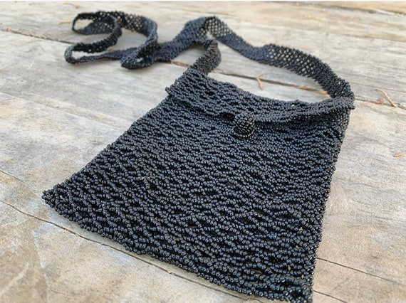 Beaded Black Bag